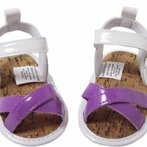 Other - NWT! Infant/Toddler Purple & White Sandals